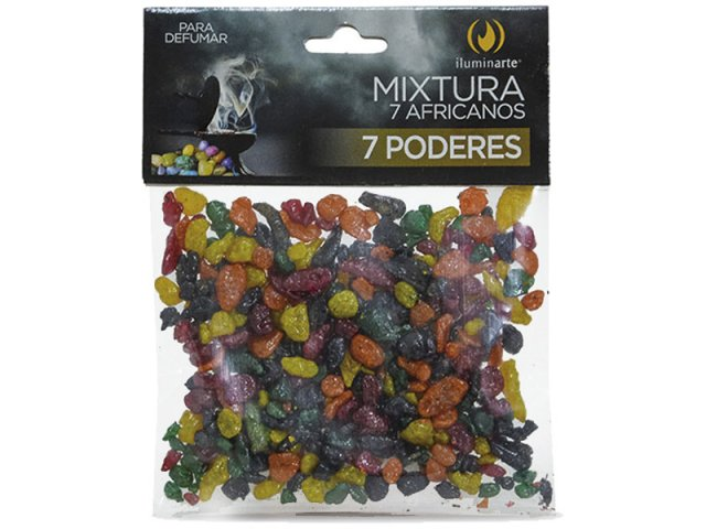 Producto #503M 7 Poderes Africanos Resina x 50 gr.